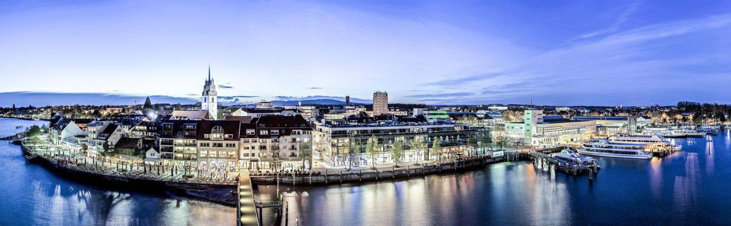 Friedrichshafen played an important role in the development of aviation and has long been a destination for enjoying the many pleasures offered by the charming Lake Constance.